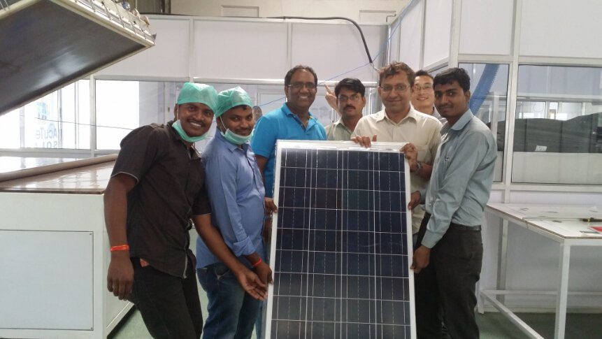 5MW solar panel production line factory  build in India Pune